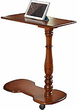 CJH Table, Solid Wood Removable Bedside Computer