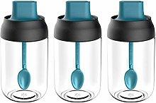 CJMING 3Pcs Spice Jar, 250ml Moisture Proof