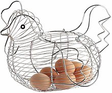 CJMING Egg Box, Chicken-Shaped Egg Basket, Wire
