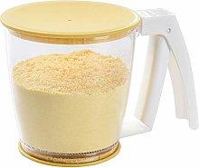 CJMING Flour Cup, Plastic Flour Strainer, Sieve