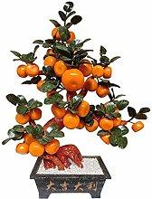 CJshop Artificial Trees Artificial Bonsai Orange