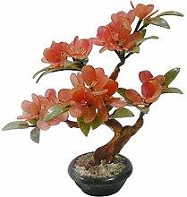 CJshop Artificial Trees Artificial Bonsai Peach