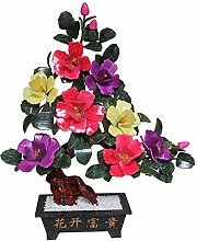 CJshop Artificial Trees Tricolor Blossom