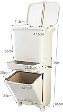 CJSWT Recycling Pedal Bin with Double