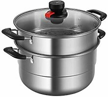 CJTMY 2 Piece Stainless Steel Stack and Steam Pot