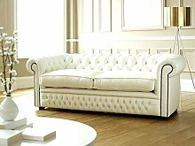 CK Chesterfield 100% Genuine Leather Two Seater