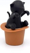 CKB LTD® Black CAT in a HAT Tea Infuser Silicone
