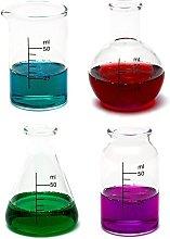 CKB LTD® Set of 4 - Laboratory Chemistry Shot