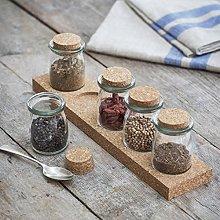 CKB LTD® Set of 5 Small Cork Spice Storage Jars
