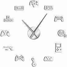CKMSYUDG Game Controller Video Diy Wall Clock Game