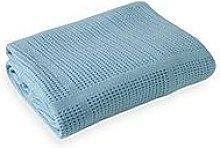 Clair De Lune Cellular Cot Bed Blanket - Blue