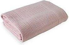 Clair De Lune Cellular Cot Bed Blanket - Pink