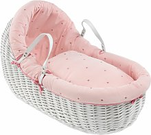 Clair de Lune Lullaby Stars Willow Bassinet -White
