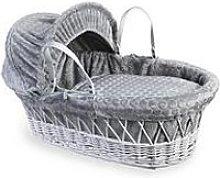 Clair De Lune Marshmallow Grey - Grey Wicker Basket