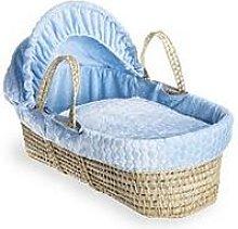 Clair De Lune Marshmallow Palm Moses Basket - Blue