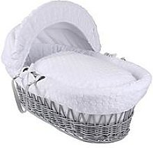 Clair De Lune Marshmallow Wicker Moses Basket -