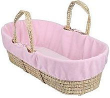 Clair De Lune Moses Basket Fleece Liner, Blue