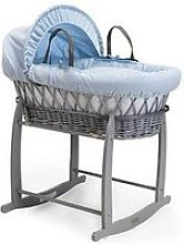 Clair De Lune Waffle Blue Wicker & Deluxe Stand
