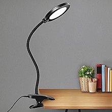 Clamp LED Desk Lamp Gooseneck Table Lamp, 3