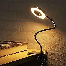 Clamp LED Desk Lamp USB Clip On Book Light for