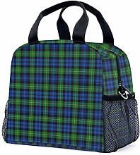 Clan Campbell Navy Blue and Green Tartan Reusable