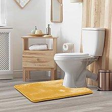 Clara Clark Memory Foam Bath Mat Set - Non Slip,