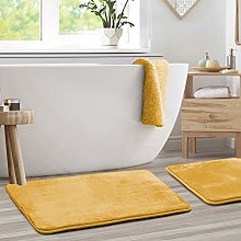 Clara Clark Memory Foam Bath Mat Set of 2 - Non