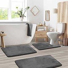 Clara Clark Memory Foam Bath Mat Sets 3 Piece -
