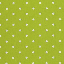 Clarke and Clarke Dotty Lime Green Curtain
