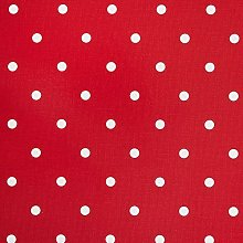 Clarke and Clarke Dotty Multi Red Curtain