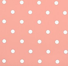 Clarke and Clarke Dotty Rose Pink Curtain