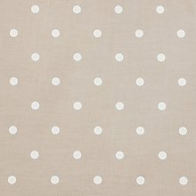 Clarke and Clarke Dotty Taupe - Curtain