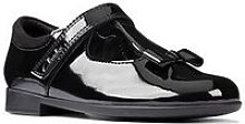 Clarks Kid Scala Hope T-Bar Bow School Shoe -