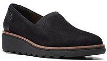 Clarks Sharon Dolly Slip On Wedge Shoe - Black