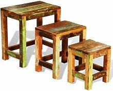 Clarkton Reclaimed Wood 3 Piece Nest of Tables