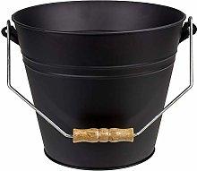 Clas Ohlson Ash Bucket - 10L, Matt Black, Steel