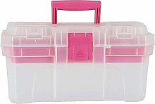 Clas Ohlson ® Plastic Tool Box with Pink Trim-