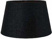 Classic 10 Inch Black Linen Fabric Drum
