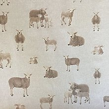 Classic Animals Sheep Design Cotton Rich Linen