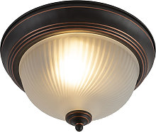 Classic ceiling lamp brown opal - Classico