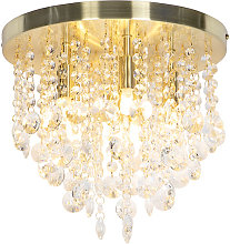 Classic ceiling lamp gold with glass - Medusa