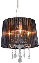Classic chandelier chrome with black shade -