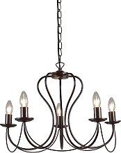 Classic chandelier rust brown - Como 5