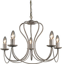Classic chandelier taupe - Como 5