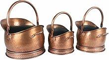 Classic Coal Scuttle Bucket Hod Antique Copper