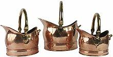 Classic Coal Scuttle Bucket Hod Solid Copper