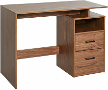Classic & Compact Table Desk w/ Shelf Drawers