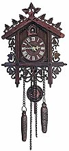 Classic Cuckoo Wall Clock Hanging Bird Home Decor