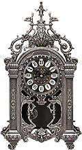 Classic Desk Clock with Roman Numerals Dial