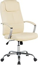 Classic Executive Office Chair High Back Beige